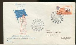 TURCHIA - FDC 1959  -  AUROPA  EUROPA - 1921-... Repubblica
