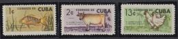 1964.107 CUBA 1964 MNH. Ed.1056-58. AHORRO. PECES VACA GALLINAS FISH CAO CHIKEN. - Unused Stamps