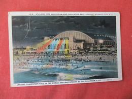 Atlantic City Auditorium & Convention Hall By Night     New Jersey >     Ref 3232 - Atlantic City