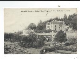 95 Chars CPA Rue De Brignancourt Villa Les Pinsons Ou Pincons  écrite  TBE - Chars