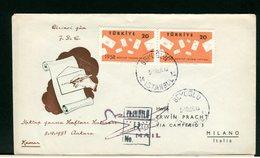 TURCHIA - FDC 1958 - MEKTUP YAZMA HAFTASI Letter Writing Week, ISTANBUL  1958 - 1921-... Repubblica