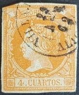 1860, Queen Isabella Ll, Kingdom, Spain, España - Gebraucht