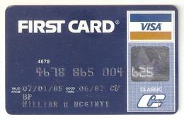 USA-First Card VISA Exp.06/1987 - Cartes De Crédit (expiration Min. 10 Ans)