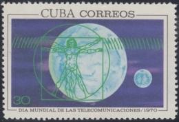 1970.67 CUBA 1970 MNH. Ed.1766. DIA MUNDIAL DE LAS TELECOMUNICACIONES. LEONARDO DA VINCI HOMBRE DE VITRUVIO. - Cuba