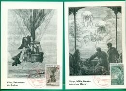 CM-Carte Maximum Card # France-1982 #CR #Celebrity #Jules Verne # Author # Ballon,balloon  # 20000 Under Water # Nantes - Maximum Cards