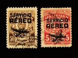 Uruguay,1946/49, Coat Of Arms ,overprinted Servicio Aereo,685,689 - Timbres