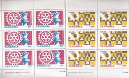 TANZANIE SERIE DE 2 VALEURS THEME ECHEC - Tanzanie (1964-...)