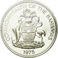 Monnaie, Bahamas, Elizabeth II, 5 Dollars, 1975, Franklin Mint, U.S.A., SPL - Bahamas