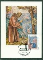 CM-Carte Maximum Card #1982-Andorre-Spain-Andorra # Célébrités,religion #Saint Francois D´Assise (Sant Francesc D& - Cartes-Maximum (CM)