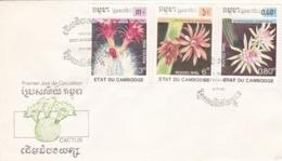 CAMBODGE : Divers Cactus Sur FDC - Cambodge