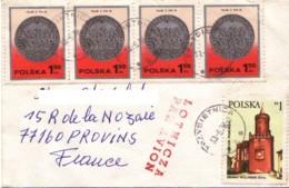 POLOGNE :  1978 - Lettre Par Avion Pour La France  -  Monnaie - Lettres & Documents