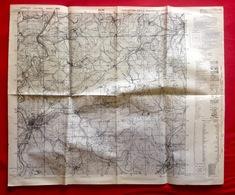 GB WAR OFFICE KARTE 1/25.000 OLPE ©1944 LITTFELD ALTENKLEUSHEIM THIERINGHAUSEN RHODE OBERVEISCHEDE SONDERN ROHDE S479 - Olpe