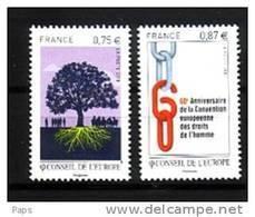 2010-N° 146/147** CONSEIL DE L'EUROPE.DROITS DE L'HOMME - Neufs