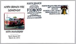 100 Aniv. DEPARTAMENTO DE BOMBEROS - 100 Years Fire Department. North Branch NY. 2010 - Bombero