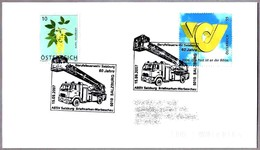 60 Años BOMBEROS DE SALZBURG - Camion Escala Giratoria - 60 Years Firefighters. Salzburg 2007 - Bombero