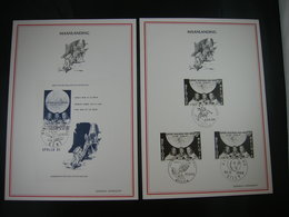"""BELG.1969 1508 & 1509 (BL46) FDC Filatelia Cards : """" First Man On The Moon """" - 1961-70"""