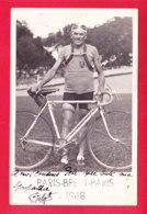 Sport-69A50  Carte Photo Paris Brest Paris 1948, Léopold Gelot, 23ème Sur 150 Partants, Autographe Original, BE - Cyclisme