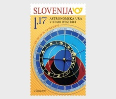 H01 Slovenia 2019 The Anthracothere  Joint Issue Slovenia-Slovakia Astronomical Clock Stamp  MNH Postfrisch - Slovénie