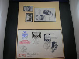 """BELG.1969 1508 & 1509 (BL46) FDC (Gent) & Serie**: """" First Man On The Moon """" - 1961-70"""