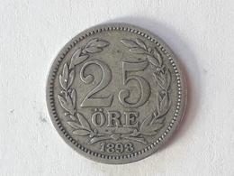 25 Öre Suède (Sweden) 1898 Silver - Suède