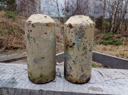 WWII LOT 2x German Stockmine M43 Beton Concrete Mine (Neutralisé) - Decorative Weapons