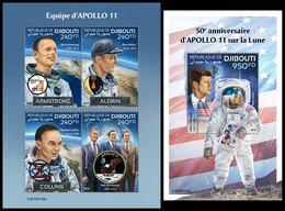 DJIBOUTI 2019 - Apollo 11, M/S + S/S. Official Issue - Djibouti (1977-...)