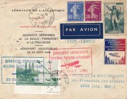 I93 - FRANCE - Enveloppe Par Avion - La Baule Vers Nice - 1936 - Airmail