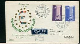 TURCHIA - FDC 1958 - EUROPA - 1921-... Repubblica
