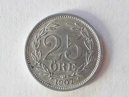 25 Öre Suède (Sweden) 1907 Silver - Suède