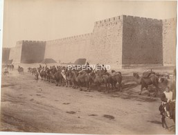 China PEKING Camel Caravan Passing City Wall  Phot60 - Photographs