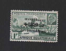 Faux Afrique équatorale N° 196a Double Surcharge Gomme Charnière - A.E.F. (1936-1958)