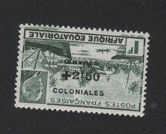 Faux Afrique équatorale N° 196b Surcharge Renversée Gomme Charnière - A.E.F. (1936-1958)