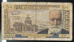 Billet 5 NF Nouveaux Francs France Victor Hugo 06-04-1961 TB - 5 NF 1959-1965 ''Victor Hugo''