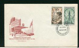 CECOSLOVACCHIA - FDC 1958  -  KONFERENCE MINISTRU SPOJU - FDC