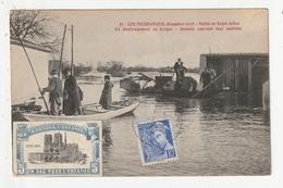 VALLEE SE SAINT JULIEN - INONDATIONS DECEMBRE 1910 - DEMENAGEMENT EN BARQUE - 44 - Saint Julien De Vouvantes