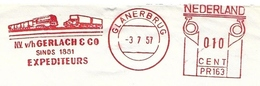 EMA Meter Frankeermachine Glanerbrug 1957 Transport Gerlach - Affrancature Meccaniche Rosse (EMA)