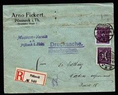 A5975) DR Infla R-Drucksache Pößneck 01.03.22 N. Norden - Briefe U. Dokumente