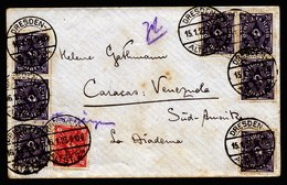 A5976) DR Infla Brief Dresden 15.01.23 N. Caracas / Venezuela - Briefe U. Dokumente
