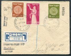 1953 Israel Qiryat Hayim Registered Cover - Israel