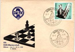 Chess Schach Echecs Ajedrez -East Germany. Görlitz 1972 - 21st East German Championship - Souvenir Cover CKM 341 - Echecs