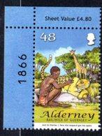 2007 Alderney, Leopard, Girafe, Zebre - Alderney