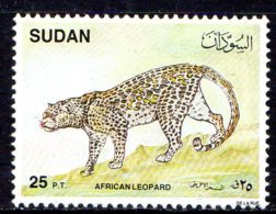 1990, Soudan, Faune, Leopard - Soudan (1954-...)