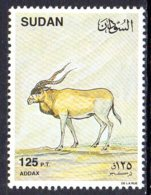 1990, Soudan, Faune, Addax, Antilope - Soudan (1954-...)