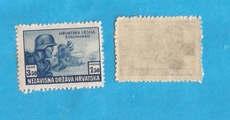 1943 X  100  CROAZIA HRVATSKA NDH  MILITARIA ABKLATSCH - PAPIR DUENN   MNH - Croatie