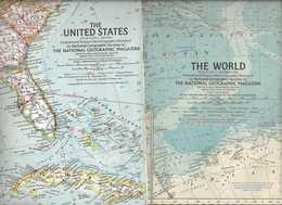 Oude Landkaarten Uit 1962 Van De Gehele Wereld - Cartes Géographiques