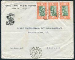 1936 Senegal Dakar Illustrated Advertising Cover - Berlin Germany. Singer Sewing Machine Company - Senegal (1887-1944)