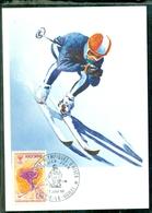 CM-Carte Maximum Card #1968-Andorre-Andorra # Sport # Olmpiade # Winter Olympic Games Grenoble  , Ski #  Andorre - Cartes-Maximum (CM)