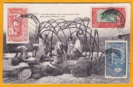 1928 - CP De Djibouti, Côte Française Des Somalis Vers Zurich, Suisse - Affranchissement Tricolore 90 C - Hutte Somali - Côte Française Des Somalis (1894-1967)