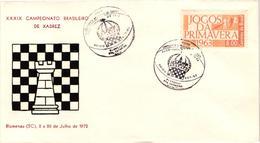 Chess Schach Echecs Ajedrez -Brasil. Blumenau 1972 - 39th Brazilian Championship - Souvenir Cover CKM 358 - Echecs