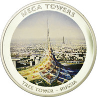 Mozambique, Médaille, Mega Towers - Tree Tower - Russia, Arts & Culture, 2010 - Jetons & Médailles